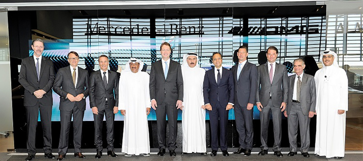 Al Mulla Group hosts CEO designate of Daimler AG meetings included a visit to the Mercedes-Benz Showroom and Al Mulla Diwaniya